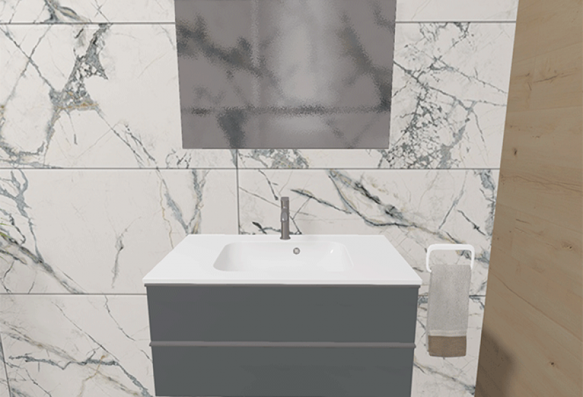 Meuble Chiara salle de bain grande classique