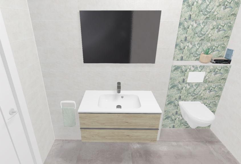 Meuble Flore salle de bain petite moderne et design