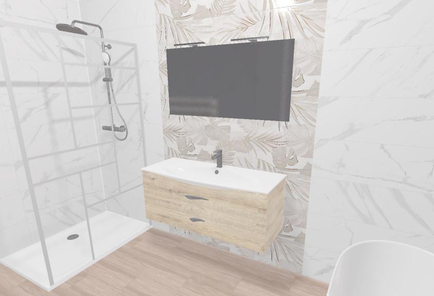 Meuble Flore salle de bain moyenne moderne et design