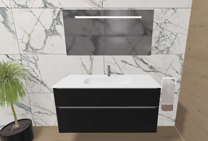 Meuble Style 2 salle de bain grande classique