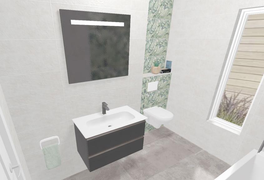 Meuble velour salle de bain petite moderne et design