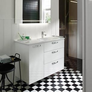 meubles de salle de bains Burgbad collection Essento fucshia