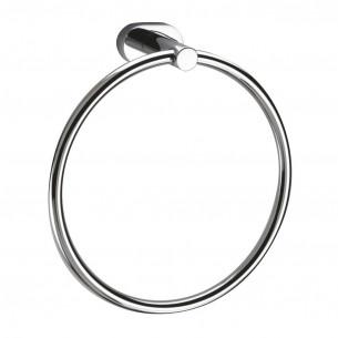 accessoires de toilette Inda porte serviette anneau