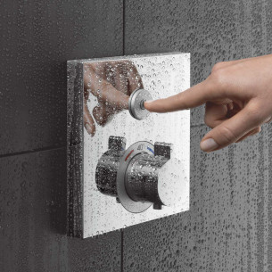 Set de finition pour mitigeur thermostatique ShowerSelect encastré avec robinet d'arrêt