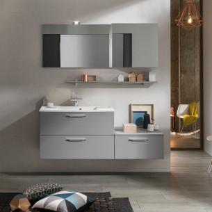 meubles de salle de bains Delpha collection Unique modèle 90 cm verre