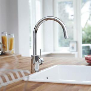 robinets évier de cuisine Grohe Concetto Mitigeur évier avec bec extractible