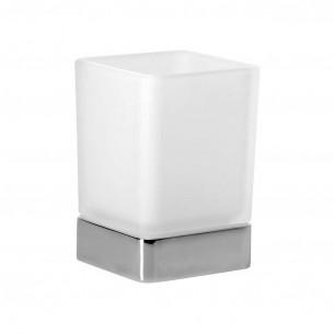 accessoires de toilette Inda porte verre cubo