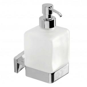 Distributeur de savon à fixer Cubo coloris chromé de Inda