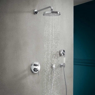Colonne De Douche Thermostatique Encastrable.Solution Encastree Axor Showerselect