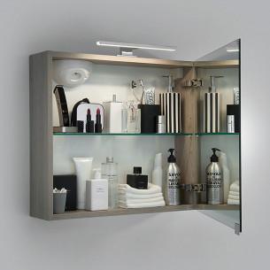 Armoire De Toilette Miroir Triptyque 120 Cm 3 Portes Pas Chere