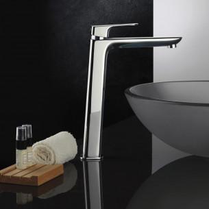 Mitigeur lavabo rehaussé avec vidage New-York en finition chromée de Païni