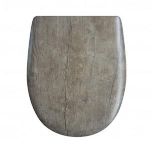 Abattant WC Olfa abattant chêne vieilli Décor bois ariane