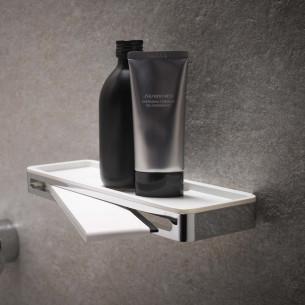 accessoire salle de bains keuco porte flacons raclette plan