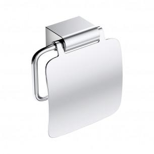 Dérouleur à papier WC avec couvercle à fixer Clivia finition chromé de la marque Vigour