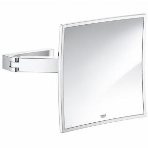 Miroir Cosmétique Chromé Selection Cube de Grohe