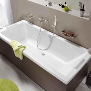 La baignoire rectangulaire pour deux personnes Préfixe Duo de Aquarine