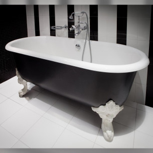 La baignoire Cléo pour une salle de bains au style rétro