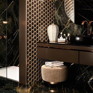 Collection Bel Air par Barwolf en coloris Black Gold Hexagon