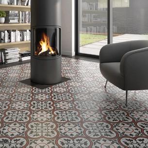 Collection  Inspiration Ciment par Bati-Orient en coloris Blanc Cassé, Gris Foncé, Rouge