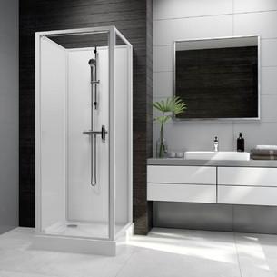 Cabine de douche Corail verre 80 x 80 cm de Leda