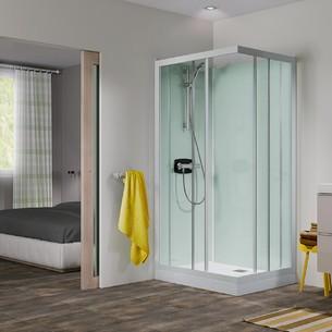 Cabine de douche intégrale Kineprime Glass 100 Angle de Kinedo