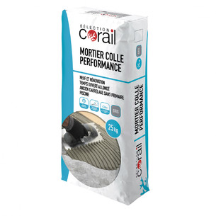 carrelage mise en oeuvre corail mortier colle performance c2