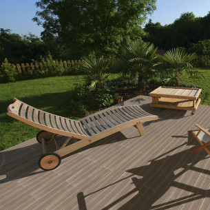 Carrelage sol extérieur Pierra Lame terrasse bois