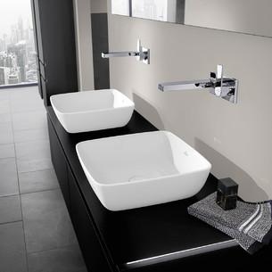 Vasque à poser carrée en TitanCeram de Villeroy & Boch