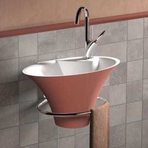 Lave-mains Iris de Decotec Terracotta mat