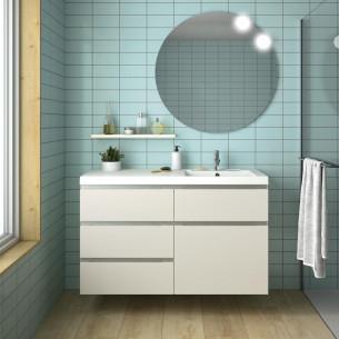 meuble salle de bain decotec rivoli laque beige mat