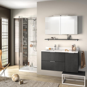 meuble salle de bain delpha delphy evolution105 beton anthracite