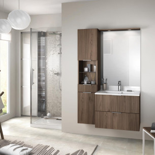 meuble salle de bain delpha delphy evolution70 alba noyer brun