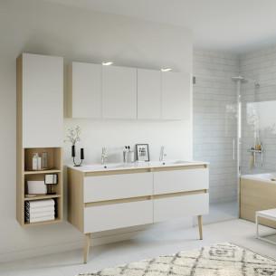 meuble salle de bain delphy intuitive140 blanc ultra de Delpha
