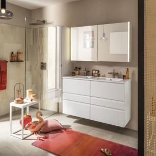 meuble salle de bain delpha unique pure blanc mat