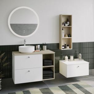 Meuble de salle de bain Mix and Match avec plateau pour vasque à poser de Burgbad