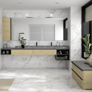 Meuble de salle de bains Extanso Natura 260 cm de Cedam