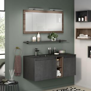 meuble salle de bains delpha d motion affleurant largeur 120 beton anthracite structure