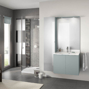 Meuble de salle de bains Evolution 70 Alba Vert Aloé Mat de Delpha
