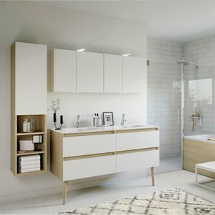 Meuble de salle de bains Intuitive 140 Blanc Ultra Mat de Delpha