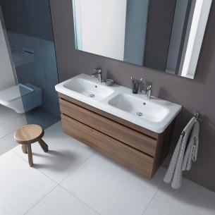 meuble salle de bains duravit durastyle decor noyer
