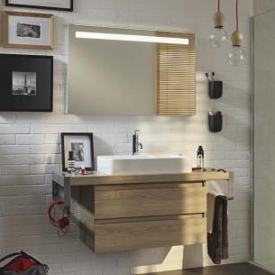 meuble salle de bains jacob delafon parallel effet bois