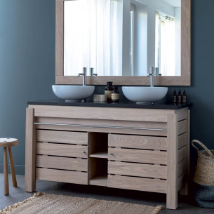 Meuble salle de bain bois massif | Espace Aubade