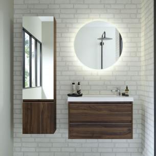 Meuble de salle de bains avec poignée profil 45° XS de Sanijura