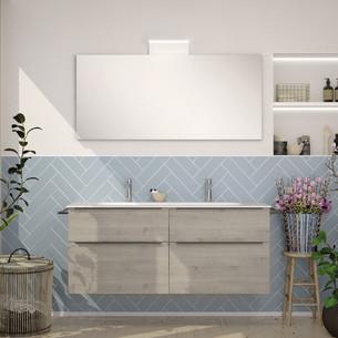 Meuble de salle de bains Style 2 avec 2 niveaux coloris chêne flanelle par Burgbad