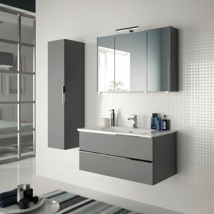 meubles de salle de bains Cedam collection Chiara blanc brillant