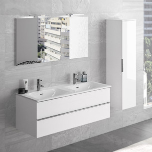 Meuble 2 tiroirs avec double vasque Chiara de la marque Cedam