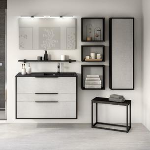 Meuble de salle de bains Ultra Cadra 2 coulissants et 1 tiroir par Delpha