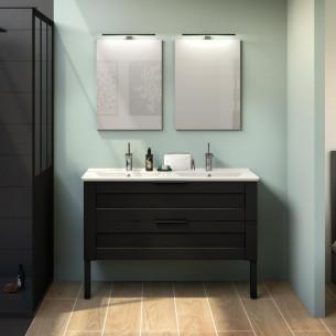 Meuble de salle de bains Kami 120 cm coloris cadre noir mat par Delpha
