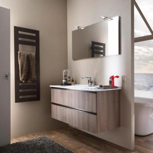 meubles de salle de bains Delpha collection Unique modèle bois 123 cm