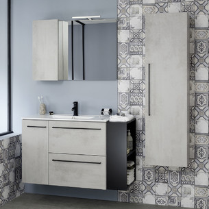 Meubles de salle de bains 2 tiroirs et 1 porte Impact 2 de Sanijura